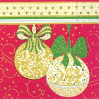Cocktail Servietten NAVIDAD DECORATIVA red