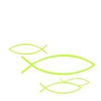 Napkins 25x25 cm - PEACEFUL FISH light green