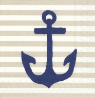 Napkins 25x25 cm - YACHT CLUB ANCHOR linen