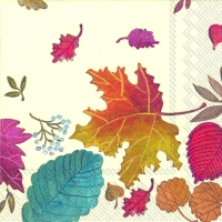 Cocktail napkins AUTUMN DAY cream