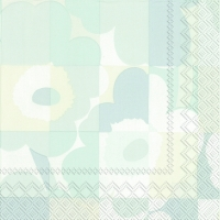 Cocktail napkins MINI-RUUTU-UNIKKO light grey