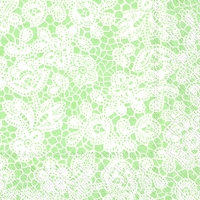 Cocktail Servietten PRETTY LACE light green