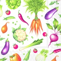Cocktail napkins VEGGIES