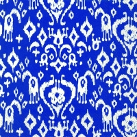 Cocktail Servietten IKAT PATTERN dark blue