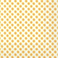 Cocktail Servietten CUTE PATTERN white yellow