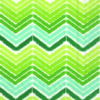 Cocktail Servietten IKAT STRIPE green