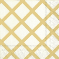 Serviettes cocktail  QUILT gold