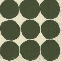 Tovaglioli 25x25 cm - KIVET bianco verde