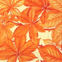 Cocktail napkins CHESTNUT FOLIAGE cream