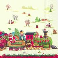 Cocktail napkins CHRISTMAS TRAIN
