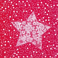 Cocktail Servietten CHRISTMAS LACE red
