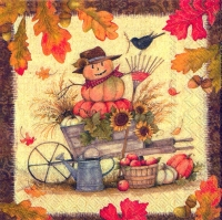 Cocktail napkins FALL SCENERY