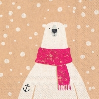 Cocktail napkins captain polar bear