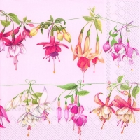 Cocktail napkins FUCHSIAS LIBRARY rose