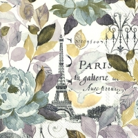 Cocktail napkins JARDIN PARIS grey