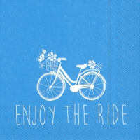 Cocktail napkins ENJOY THE RIDE blue