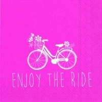 Cocktail napkins ENJOY THE RIDE pink