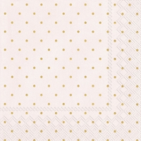 Cocktail Servietten FINE DOTS rose gold