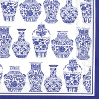 Cocktail napkins BLUE AND WHITE URNS