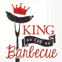 Cocktail napkins KING OF BARBECUE red