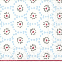 Serviettes cocktail  WINTER DOTTY light blue