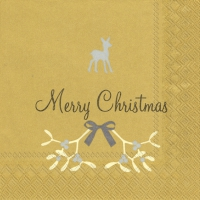 Cocktail napkins SWEET MERRY CHRISTMAS gold