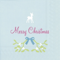 Cocktail napkins SWEET MERRY CHRISTMAS li. blue
