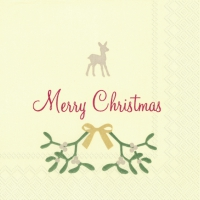 Cocktail napkins SWEET MERRY CHRISTMAS cr. red