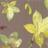 Cocktail napkins WELCOME AUTUMN light brown