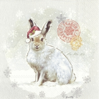 Cocktail napkins WOODLAND RABBIT