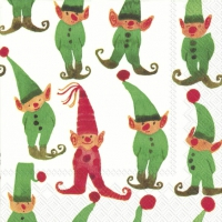 Servetten 25x25 cm - LITTLE ELVES