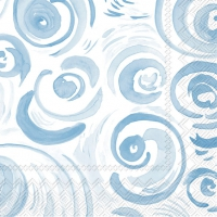 Cocktail napkins HAPPY CIRCLES light blue
