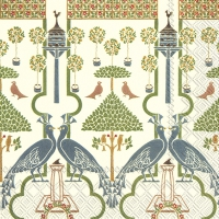 Serviettes cocktail  VOYSEY (V&A) cream