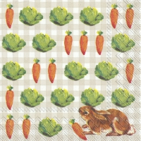 Napkins 25x25 cm - LITTLE BUNNIES linen