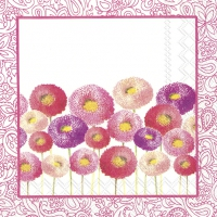 Cocktail napkins PRETTY BELLIS pink