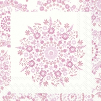 Cocktail napkins LILLY light rose