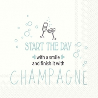 Napkins 25x25 cm - START THE DAY WITH A SMILE tur