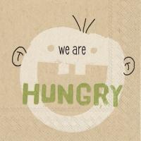 Serviettes de table 25x25 cm - nous avons faim