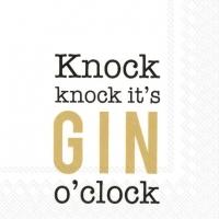 Napkins 25x25 cm - KNOCK KNOCK,ITS GIN OCLOCKg.