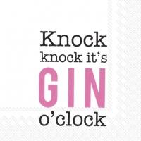 Napkins 25x25 cm - KNOCK KNOCK,IT´S GIN O´CLOCK p