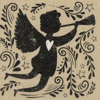 Napkins 25x25 cm - vintage angel