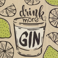 Napkins 25x25 cm - drink more gin