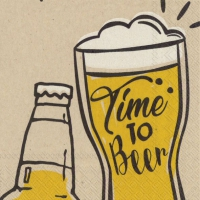 Napkins 25x25 cm - time to beer