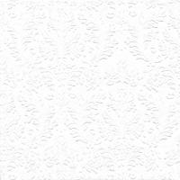 Serviettes de table 25x25 cm - CAMEO UNI blanc
