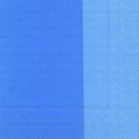 Servietten 33x33 cm - DOUBLO azurblau