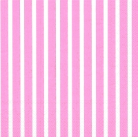 Napkins 33x33 cm - STRIPES AGAIN rose