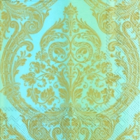 Lunch napkins MIRABEAU blue gold