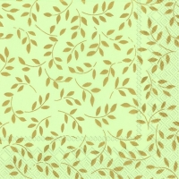 Serviettes lunch FOLIA green gold