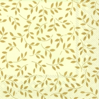 Serviettes lunch FOLIA cream gold