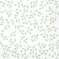Serviettes lunch FOLIA white silver